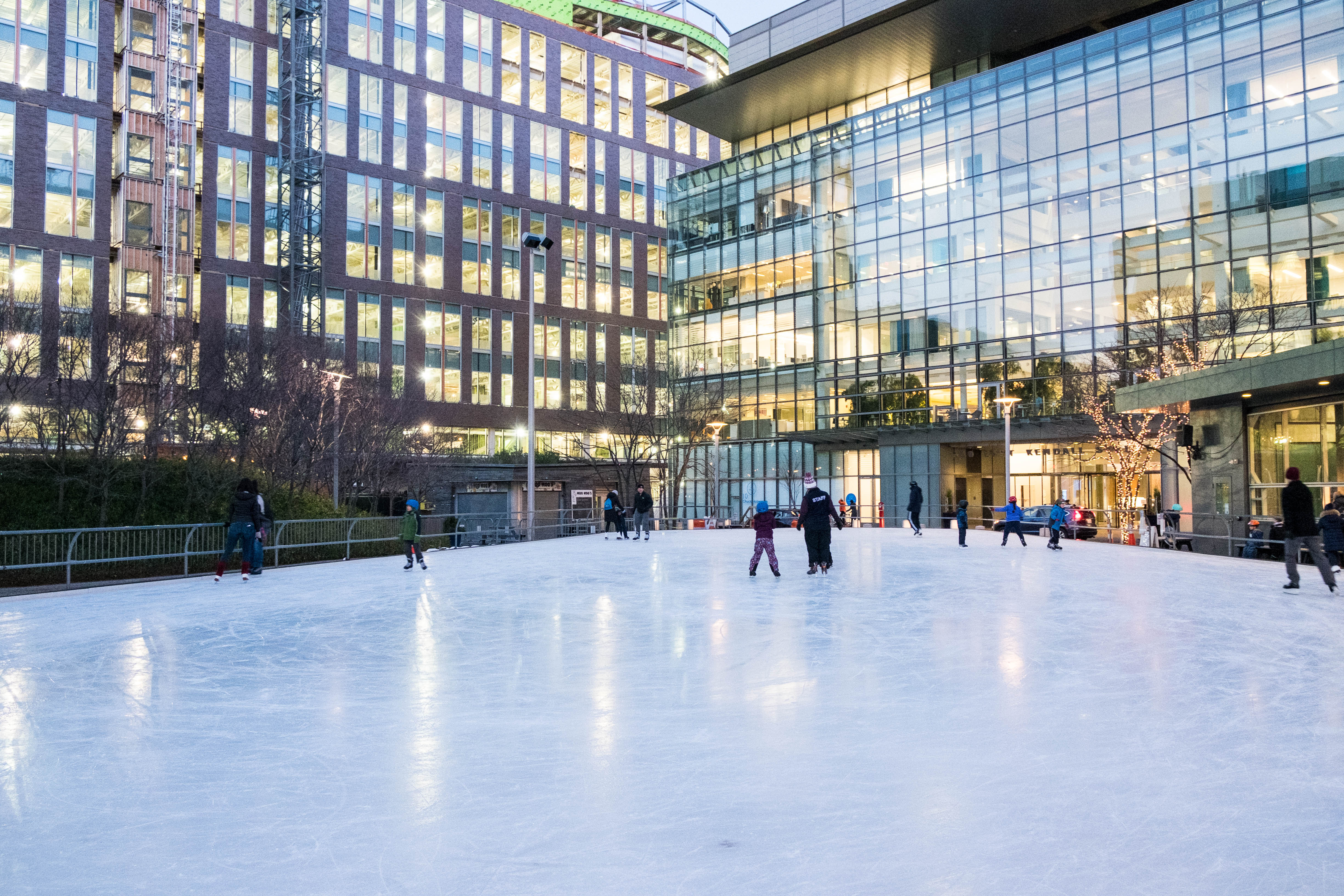 siena completes kendall square ice rink installation siena